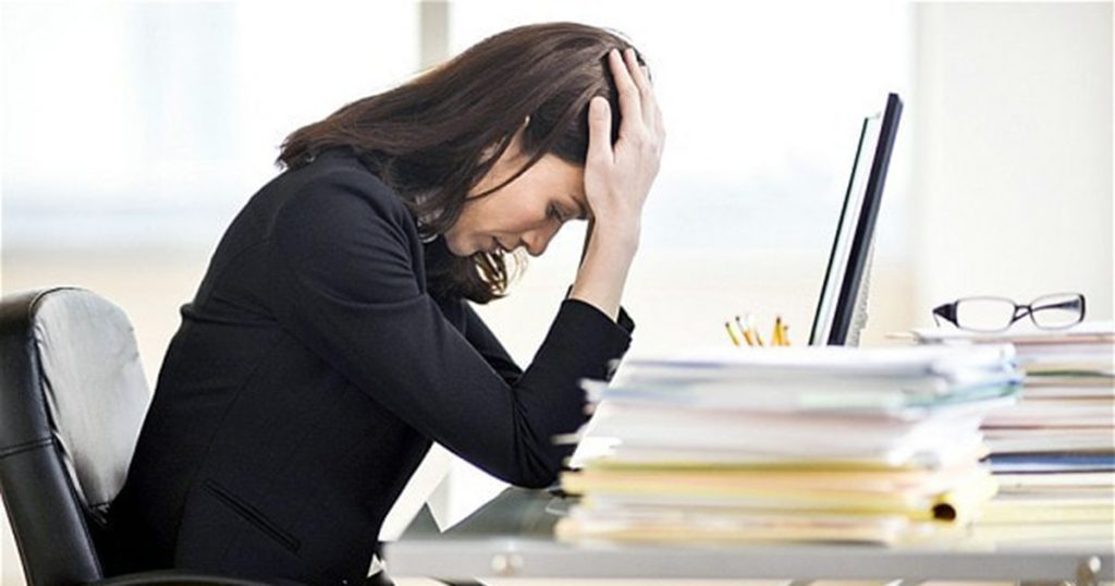 Stressed employee working from home needs proactive leadership